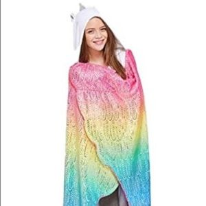 New Justice Plush Unicorn Blanket Wrap Gift